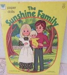 Vintage Whitman 1970s  The Sunshine Family  Paper Dolls Uncut