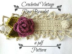 This listing is for a PDF PATTERN for a crocheted bracelet and NOT actual bracelet.   This photo - tutorial contains 19 pages and more than 40, clear and elaborate photos with intelligible and detailed explanations and instructions making this tutorial quite comprehensible; nevertheless if you have any trouble with the pattern feel free to email me with your questions.  It is easy in difficulty. Beginners can also use it if they have knowledge of the basic crochet terms.  Used crochet terms…