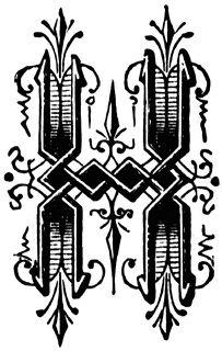 H, Ornamental letter | ClipArt ETC