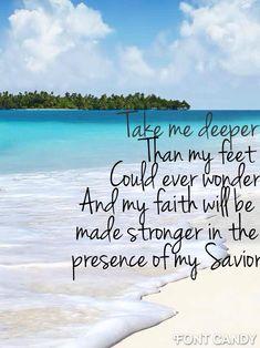 Oceans by Hillsong beach Bible verse iphone 5 wallpaper