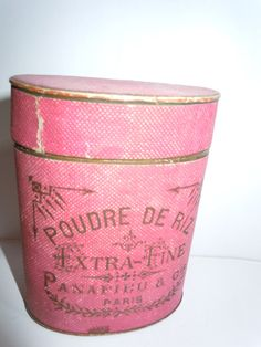 Vintage Cosmetic Box nice paris light pink