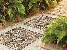 How to Build a Stone Medallion Garden Path