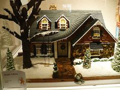 Kindof puts us all to shame, dontcha think? An entry into the national gingerbread house competition.