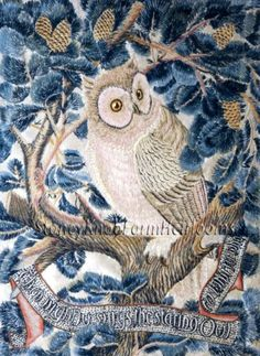 Owl by George Jack. Massive range of art prints, posters & canvases. Quality UK framing & Money Back Guarantee! William Morris Patterns, William Morris Art, Framing Canvas Art, Owl Embroidery, Embroidery Ideas, Contemporary Embroidery, Poster Prints, Art Prints, Posters