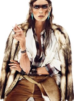 Maria Palm Dons Nomadic Style for S Modas January 2013 Issue by Alvaro Beamud Cortes