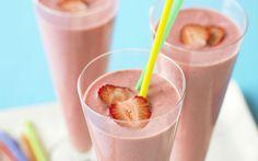 Shake proteico de gelatina, chia e frutas