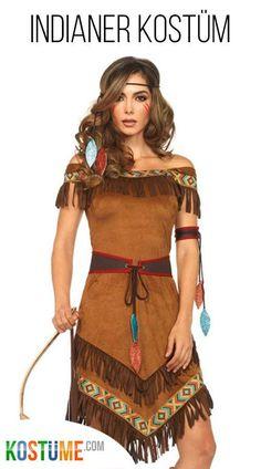 Häuptlingstochter Tatinka Damenkostüm Deluxe - Miyoshi Style World Robes Western, Western Dresses, Red Indian Costume, Costume Homemade, Costume Halloween, Disney Halloween, Boho Look, Tee Dress, Dress Set