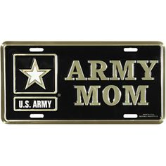 US Army Mom License Plate - See all the Plates and Frames at http://www.priorservice.com/millicplat.html