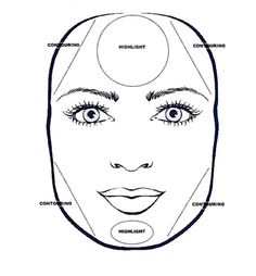 square face contouring: No time to do your make up, just mascara and defining eyebrows makes an incredible difference. Thicker eyebrows are recommended for this shape, stay away from plucked out thin lines for eyebrows.  Applying a darker bronzer on both sides of the forehead and jaw line will help give the appearance of an oval face (see video ). Put blush on the ball of the cheek and blend toward top of your ears.