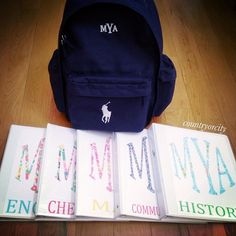Back to School with monograms polo and lilly