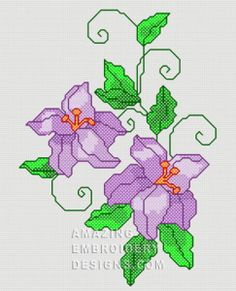 Free Embroidery Design: Flowers - I Sew Free