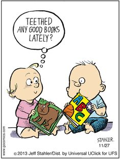 Babies love books too. #libraryhumor
