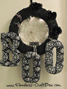 : Burlap Halloween Wreath