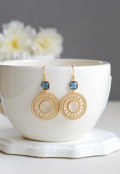 Filigree Earrings, Blue Earrings, Dangle Earrings, Chandelier Earrings, Cute Jewelry, Photo Jewelry, Fashion Jewelry, Types Of Earrings, Diy Schmuck