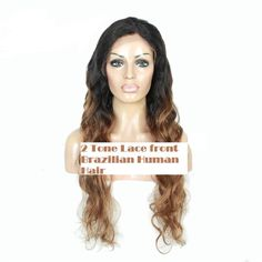 Stock Lace Front Brazilian 2 Tone #1B/30 Curly Human Hair Wigs #ValmurrWigsWeftsAndMore #Freestyle #All