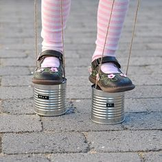 stilts made from coffee cans or vegetable cans. I remember the day! Easy Business Ideas, Business For Kids, My Childhood Memories, Childhood Toys, Diy For Kids, Cool Kids, Baby Mine, Boredom Busters, Kids Education