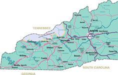 Murphy Nc Map From North And South Carolina Georgia And Florida