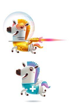 2014 by Alongkorn Sanguansook, via Behance Game Character, Character Concept, Character Design, Cute Characters, Cartoon Characters, Horse Cartoon, Design 3d, Illustration Vector, Japanese Toys