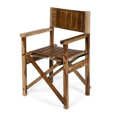 Leather Wood Directors Chair from The Shelley Panton Store