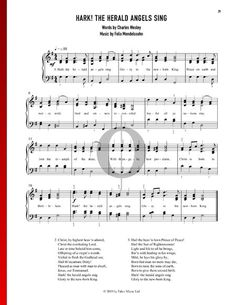 The Herald Angels Sing by Felix Mendelssohn Bartholdy G Major, Piano Sheet Music, The Voice, Special Occasion, Singing, Angels, Songs, Traditional, Holiday