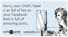 FB and lice...equally annoying:)