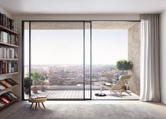 Image 22 of 23 from gallery of New Images Released of OMA's Norra Tornen Towers in Stockholm. Courtesy of Oscar Properties Living Room Grey, Living Room Interior, Oscar Properties, Balcony Doors, Mcm House, Interior And Exterior, Interior Design, Home Decor Furniture, Modern Bedroom