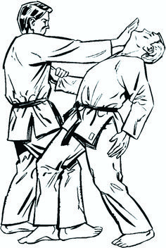 Notice the right foot placement. The ankles are locked. The outside of the knees are flush. He pulls the left arm down while raising the head from under the chin. Controlling the width, depth, and height of his opponent. Shotokan Karate, Kenpo Karate, Kyokushin Karate, Aikido, Karate Techniques, Krav Maga Kids, Full Contact, Judo Karate, Taekwondo