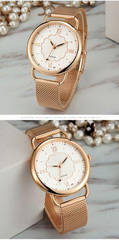 YAZOLE 399 Rose Gold Case Full Steel Women Quartz Watch Pendant Earrings, Anklet, Quartz Watch, Body Jewelry, Women Jewelry, Rose Gold, Steel, Watches, Casual