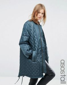 Buy ASOS TALL Longline Quilted Jacket at ASOS. With free delivery and return options (Ts&Cs apply), online shopping has never been so easy. Get the latest trends with ASOS now. Asos, Trends 2018, Max Mara, Air Force Blue, Clothing For Tall Women, Chiffon, Quilted Jacket, Fall Winter Outfits, Chic Outfits
