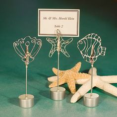 place card holders that could double as guest favors to put picture in later