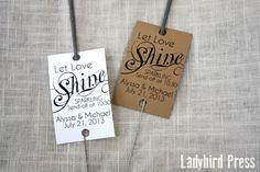 Sparkler Tags - Personalized Printable Wedding Favor Sparkler Tags - PDF - DIY - Shine
