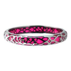 Inox Womens Pink Fushia Design Resin Stainless 316L Steel Bangle INOX. $59.99. Beautiful, and elegant goes with any attire from casual, dressy and stylish.  Makes a great gift.. Highly Polished 316L stainless steel, and combination Pink Resin complement each other.. Quality 316L Stainless Steel, is chosen for its durability, and anti-corrosive properties.. Comes with an Inox Bangle Gift Box.. The Inox brand is defined by superb quality, made with precision and o...