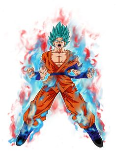 Goku super saiyan Blue kaioken by BardockSonic