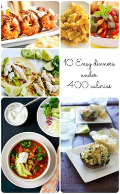 Delicious dinners UNDER 400 calories? Pinch me, I must be dreaming...