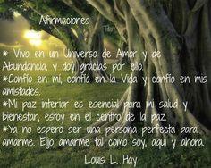 Afirmaciones, por Louis L. Hay.