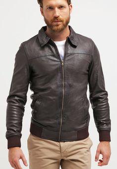 Pier One Veste en cuir dark brown prix Blouson Homme Zalando 150.00 €