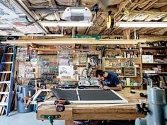 THIS is a garage/workshop -- I find it funny when guys say their dream garage is something that looks like a Manhattan day spa with a car that you can't work on.