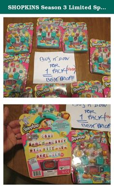 SHOPKINS Season 3 Limited Special Edition POLISHED PEARL 12 Pack Baby/blind bags. For sale is a set of 12 pack of Shopkins, randomly chosen. BRAND NEW. SEALED FACTORY. Please understand that it is ONLY ONE set. send me a message BEFORE purchasing (I own other sets different from the photos). I will then let you know if it's available. Then, you can purchase it. If you purchase 5 sets, you will receive 5 different sets. The 6th set could be a repeat of what you are already receiving…