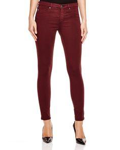 AG Legging Ankle Jeans in Crimson Maple $178, 25