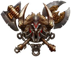 Class Crest: Barbarian - The Diablo Gallery Fantasy Logo, Battle Chasers, Warriors Game, Magic Symbols, Viking Warrior, Game Icon, Game Logo, Egyptian Art, Crests