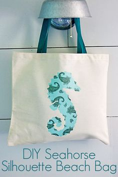 silhouette project to make an embellished beach bag