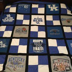 UK University of Kentucky TShirt Quilt