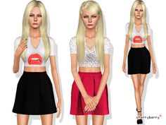 CherryBerrySim's Teen Kiss dress
