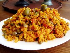 """After so much trial and error I gave up trying to make this recipe just like Gma's. I try to keep it as """"low-fat"""" possible by not adding bacon or sausage like other recipes call for. Bean Recipes, Rice Recipes, Pork Recipes, Mexican Food Recipes, Cooking Recipes, Ethnic Recipes, Arroz Con Pollo Recipe Puerto Rican, Arroz Con Gandules Recipe, Rice And Beans Recipe Puerto Rican"""