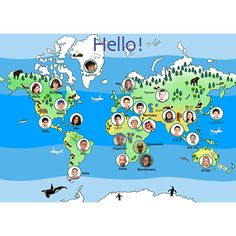 Hello from Around the World Poster