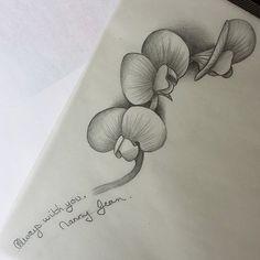 Instagram media by cardboard_knox - Sweet pea design for customer. #flower…