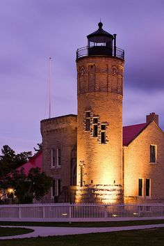 Old Mackinac Point Lighthouse in Michigan. #LightHouses #PureMichigan #BeautifulMichigan –– Flickr.com