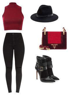 """""""fashion  inspiration Lubica"""" by ludmila01-1 on Polyvore featuring Pilot, Balmain, Sole Society and Prada"""