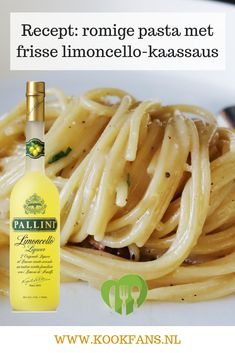 Recept: romige pasta met frisse limoncello-kaassaus. Dutch Recipes, Italian Recipes, Limoncello, Ovens, Pizza Recipes, Pasta Dishes, Risotto, Recipies, Food Porn