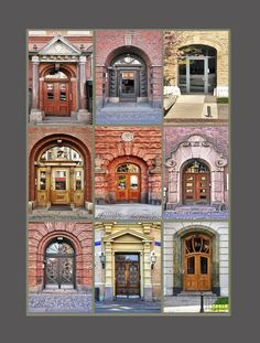 The Doors. by alberto laurenzi The Doors, Windows And Doors, Oh The Places You'll Go, Places To Visit, Entrance Ways, Gothenburg, Facade, Swedish Fish, Country